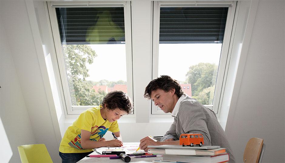 Velux finestre per tetti manuali con apertura dall 39 alto for Velux shop finestre