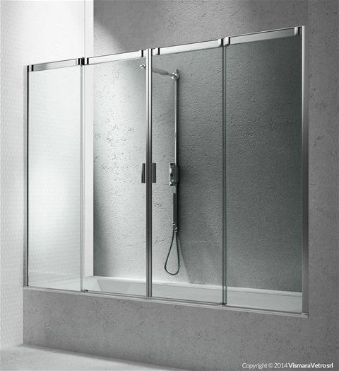 Vismara vasche garden house - Vetro doccia per vasca ...