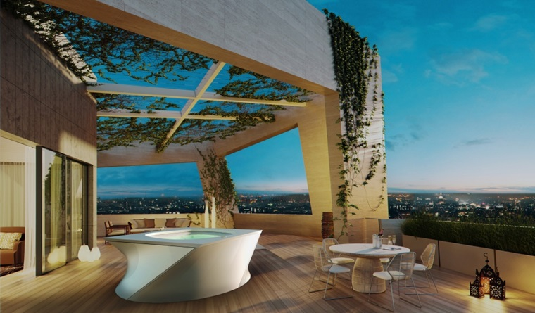 Jacuzzi flow garden house for Garden city pool 2015