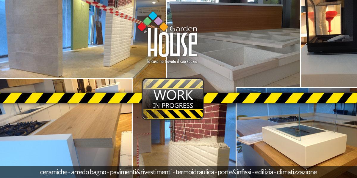 nuovo showroom... work in progress! - garden house - Progress Arredo Bagno