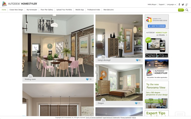 L 39 app che ti disegna casa autodesk homestyler garden house for Homestyler login