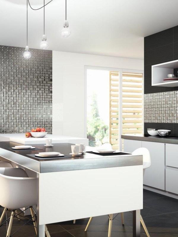 mosaico dune per cucina bianco