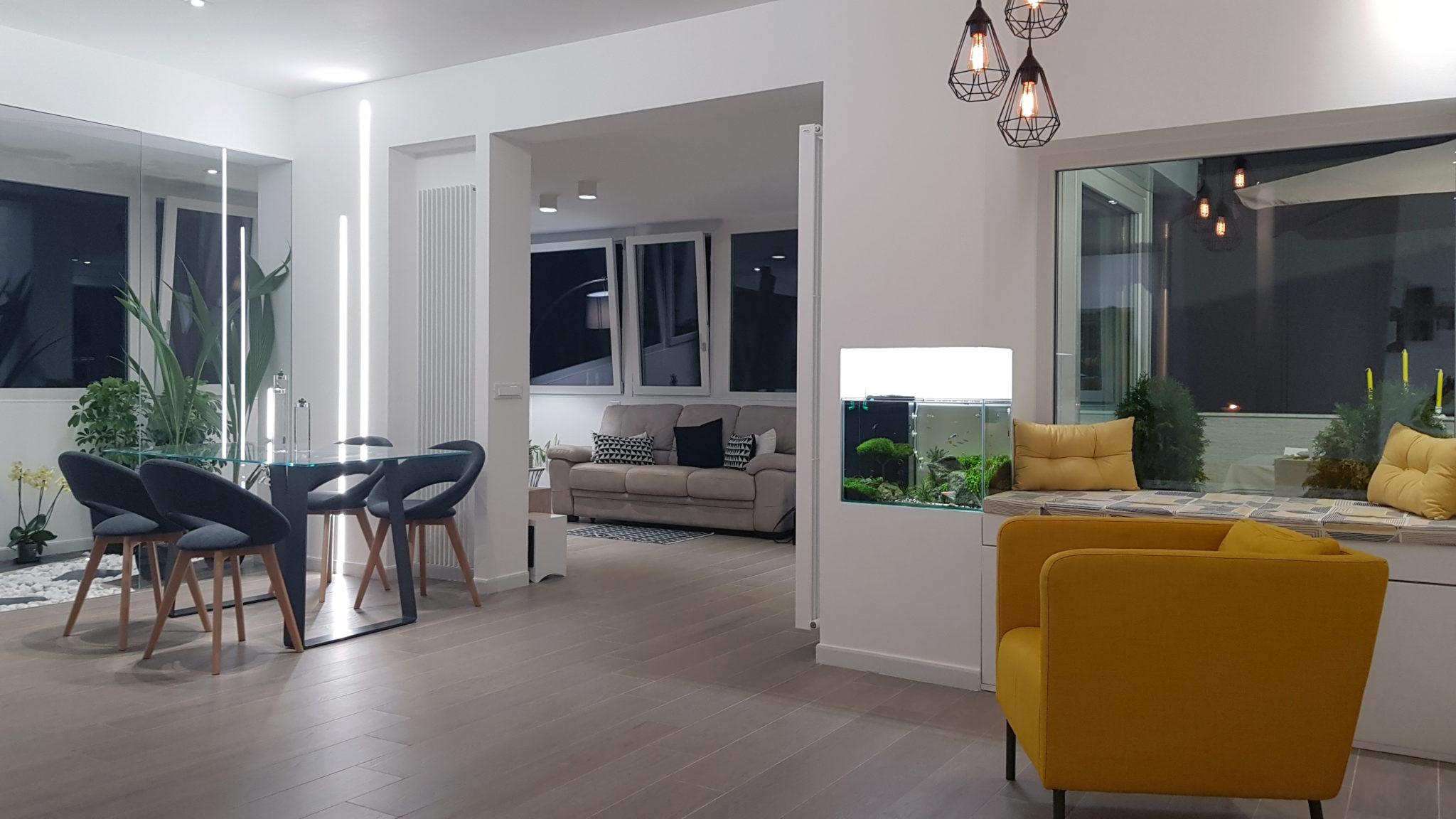 Casa ls un attico al nono piano garden house for Casa moderna 1 piano