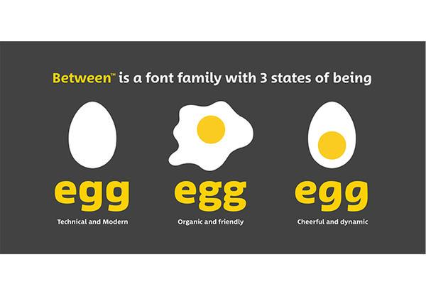 Between font by Akira Kobayashi