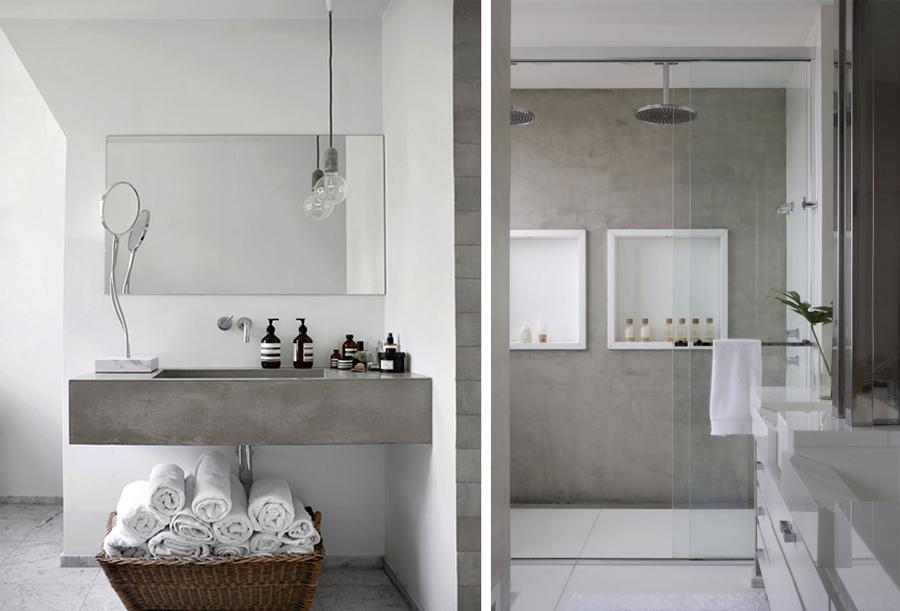 Come realizzare un bagno effetto cemento ecco tre punti - Pitturare piastrelle bagno ...
