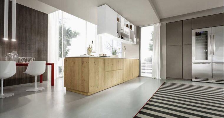 cucine in legno massello moderne Stordimento Cucina moderna in legno massiccio in legno MATERIKA Pedini