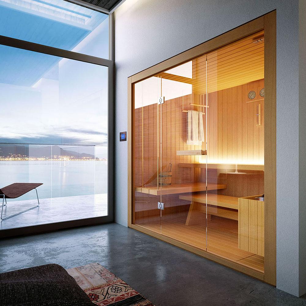 sauna glass