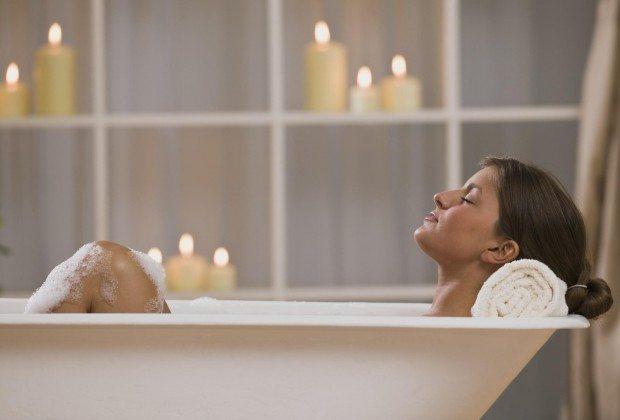 bagno caldo rilassante