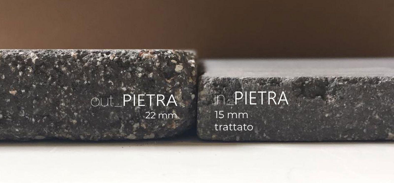 La pietra compattata interno esterno