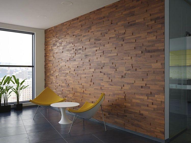Rivestimento parete 3D legno Solquer
