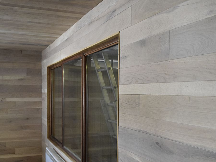 parete rivestimento in legno Solquer